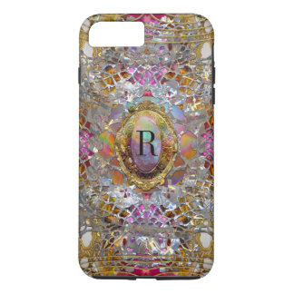 Regardez dans kaléidoscope Elegant Girly Monogram iPhone 8 Plus/7 Plus Case
