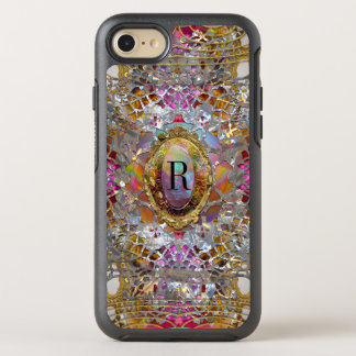 Regardez dans kaléidoscope Elegant Girly Monogram OtterBox Symmetry iPhone 7 Case