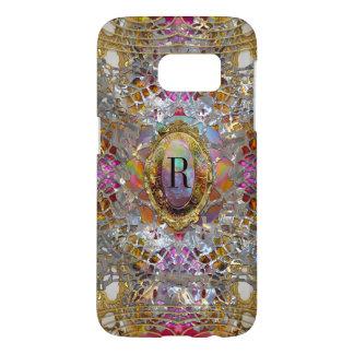 Regardez dans kaléidoscope Elegant Girly Monogram Samsung Galaxy S7 Case