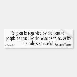 Regarding Religion Bumper Sticker