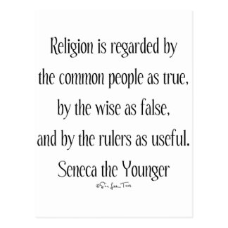 Regarding Religion Postcard