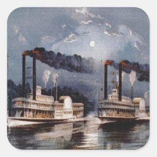 Regatas del vapor en el río Misisipi Etiquetas