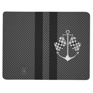 Regatas náuticas en estilo de la fibra de carbono cuadernos grapados