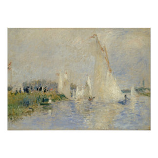 Regatta at Argenteuil, 1874 (oil on canv Poster