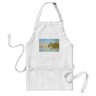 Regatta at Argenteuil by Claude Monet Aprons