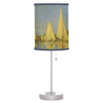 Regatta at Argenteuil by Claude Monet Desk Lamp