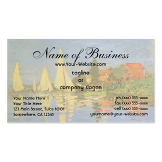 Regatta at Argenteuil by Claude Monet Double-Sided Standard Business Cards (Pack Of 100)