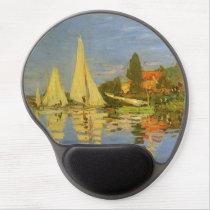 Regatta at Argenteuil by Claude Monet Gel Mouse Pad