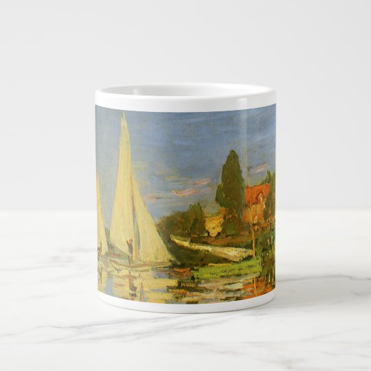 Regatta at Argenteuil by Claude Monet Giant Coffee Mug