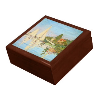 Regatta at Argenteuil by Claude Monet Jewelry Box
