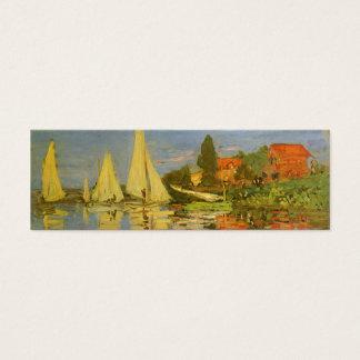 Regatta at Argenteuil by Claude Monet Mini Business Card