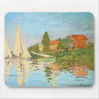 Regatta at Argenteuil by Claude Monet Mouse Pad