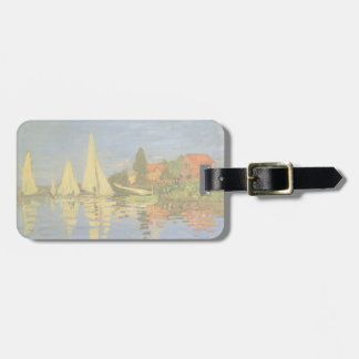 Regatta at Argenteuil by Claude Monet, Vintage Art Tags For Bags
