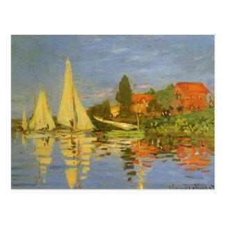 Regatta at Argenteuil by Claude Monet, Vintage Art Postcard