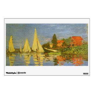 Regatta at Argenteuil by Claude Monet Wall Sticker