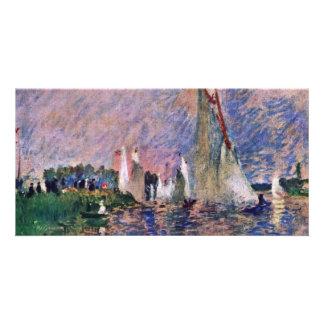 Regatta At Argenteuil By Pierre-Auguste Renoir Custom Photo Card