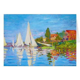 Regatta at Argenteuil Claude Monet Card