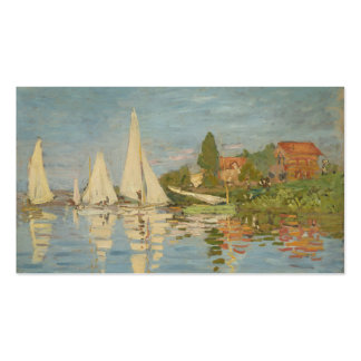 Regatta at Argenteuil - Claude Monet Double-Sided Standard Business Cards (Pack Of 100)