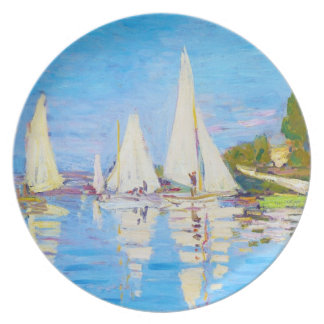 Regatta at Argenteuil Claude Monet Party Plate