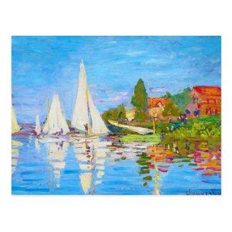 Regatta at Argenteuil Claude Monet Post Card