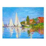Regatta at Argenteuil Claude Monet Postcard