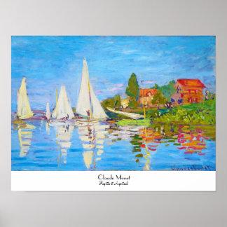 Regatta at Argenteuil Claude Monet Poster