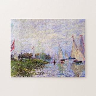 Regatta at Argenteuil Monet Fine Art Puzzle