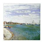 "Regatta at Sainte-Adresse by Claude Monet Ceramic Tile<br><div class=""desc"">&#39;Impressionism&#39; beautiful images from legendary artists</div>"