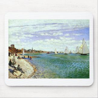 Regatta at Sainte-Adresse by Claude Monet Mouse Pad