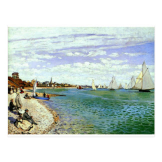 Regatta at Sainte-Adresse by Claude Monet Postcard