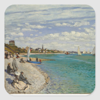 Regatta at Sainte-Adresse Square Sticker