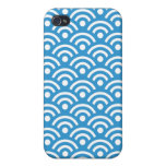 Regatta Blue Seigaiha Design Iphone 4/4S Case