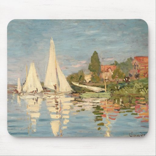 Regatta de Claude Monet el   en Argenteuil, c.1872 Alfombrillas De Ratón