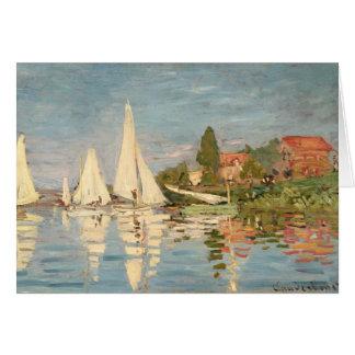 Regatta de Claude Monet el | en Argenteuil, c.1872 Tarjeta De Felicitación