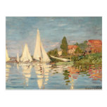 Regatta de Claude Monet el   en Argenteuil, c.1872 Tarjetas Postales
