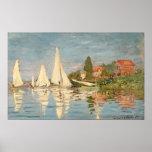 Regatta de Claude Monet el   en Argenteuil Póster