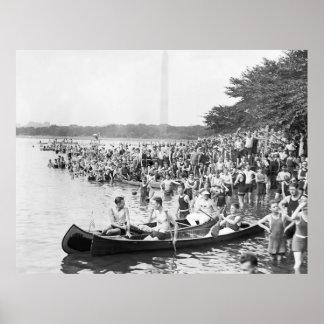 Regatta de la canoa 1924 poster