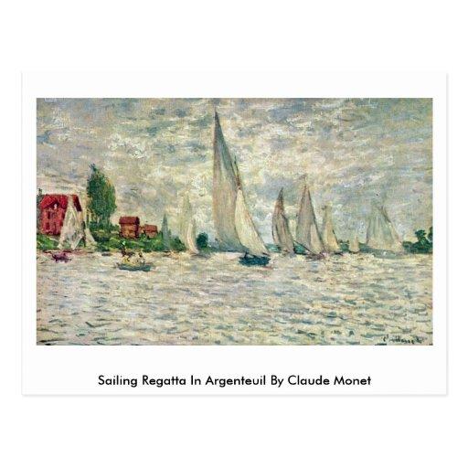 Regatta de la navegación en Argenteuil de Claude M Postales
