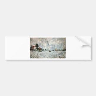 Regatta en Argenteuil, Claude Monet Etiqueta De Parachoque