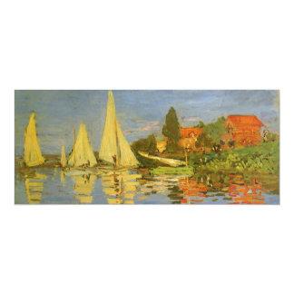 """Regatta en Argenteuil de Claude Monet, arte del Invitación 4"""" X 9.25"""""""