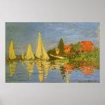 Regatta en Argenteuil de Claude Monet, arte del Póster
