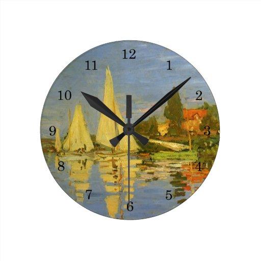 Regatta en Argenteuil de Claude Monet, arte del Relojes De Pared