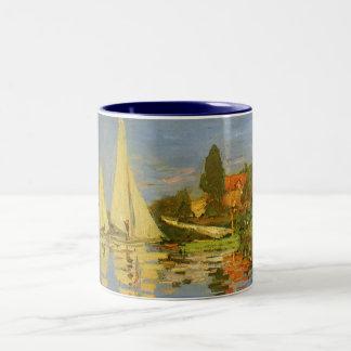 Regatta en Argenteuil de Claude Monet, arte del Tazas De Café