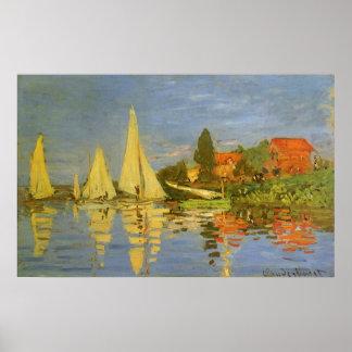 Regatta en Argenteuil de Claude Monet, arte del vi Impresiones