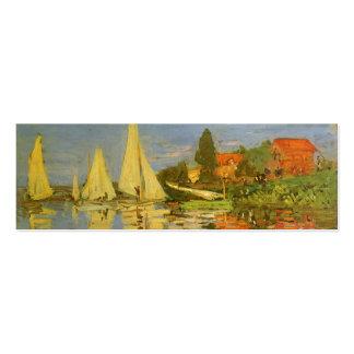 Regatta en Argenteuil de Claude Monet, arte del vi Tarjeta De Negocio
