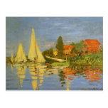 Regatta en Argenteuil de Claude Monet, arte del vi Tarjetas Postales