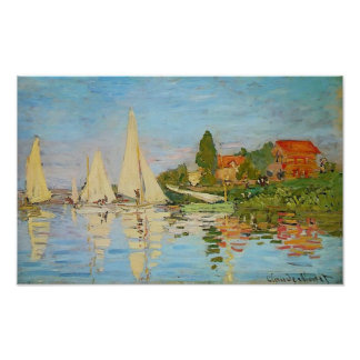 Regatta en Argenteuil de Claude Monet Poster