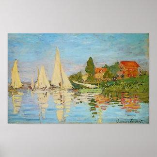Regatta en Argenteuil de Claude Monet Póster