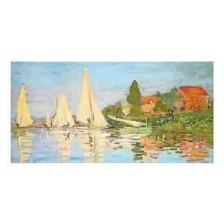 Regatta en Argenteuil de Claude Monet Tarjeta Fotográfica