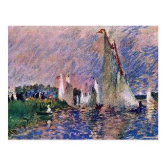 Regatta en Argenteuil de Pierre-Auguste Renoir Tarjetas Postales